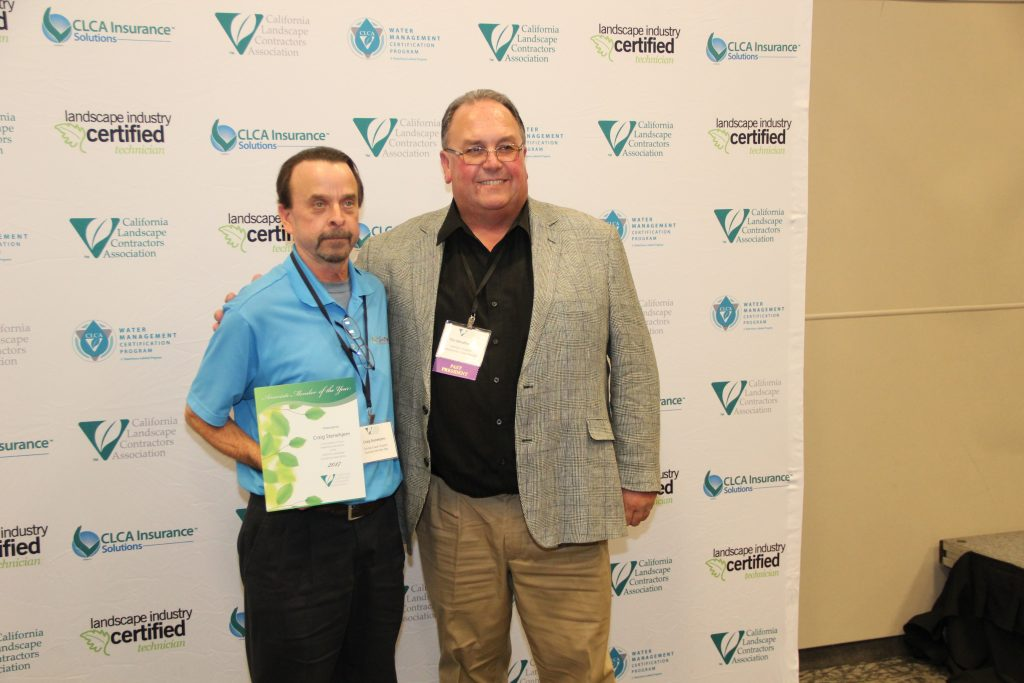 The California Landscape Contractors Association has named Craig Stenehjem of SiteOne Landscape Supply its 2017 Associate Member of the Year, honoring his enthusiasm and efforts to promote member engagement and professionalism.