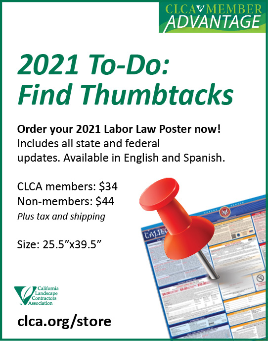 Labor Law poster updated for 2021