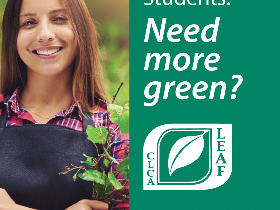 LEAF Scholarship Deadline is April 15